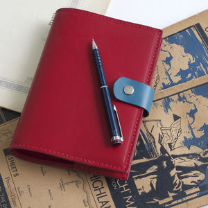 A6 Leather Book Slip Cover - writing