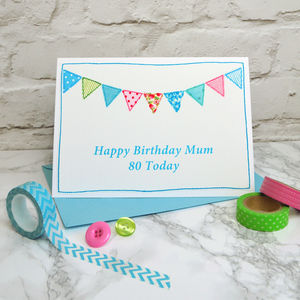 'Bunting' Personalised Birthday Card
