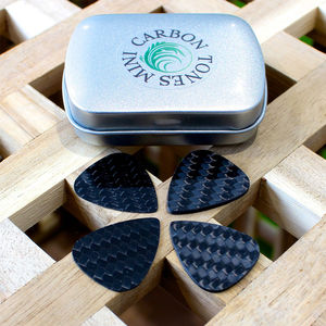 Carbon Tones Mini Jazz Guitar Picks In A Gift Tin