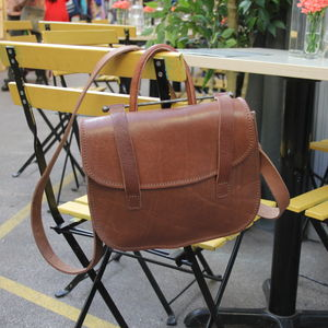 Carly Leather Saddle Bag - cross-body bags