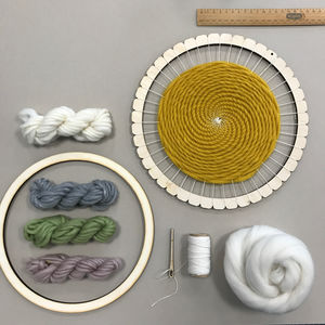 Large Circular Weaving Loom Kit - creative kits & experiences