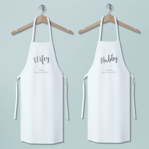 Personalised Wifey And Hubby Apron Set - shop by price