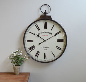 Pocket Watch Wall Clock Antique Brass - clocks