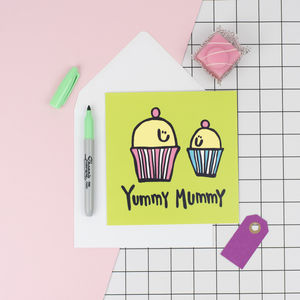 'Yummy Mummy' Baby Shower Congrats Card