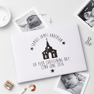 Personalised Christening Day Photo Album - christening gifts