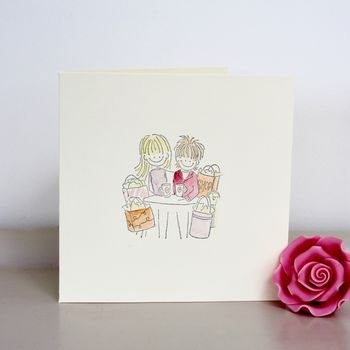 Best Friends And Retail Therapy Handmade Card