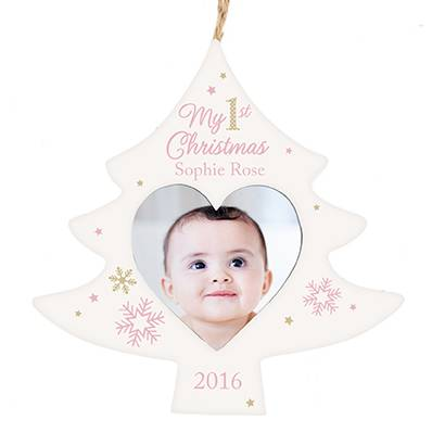 baby first christmas personalised frame by the letteroom ...
