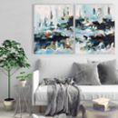 Diptych Two Piece Original Abstract Paintings
