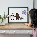 Personalised Family Of Bears Print