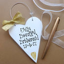 Gold Motif & Bow wire hanger