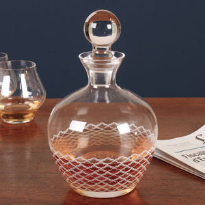 Homme Elegant Decorated Whiskey Carafe - drink & barware