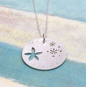 Personalised Star Flower Necklace - necklaces & pendants