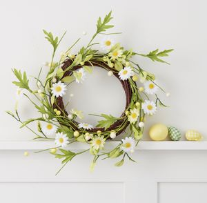 Daisy Easter Wreath - flowers, plants & vases