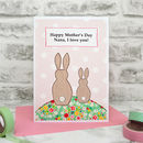 'Bunnies' Personalised Mother's Day Card From Children
