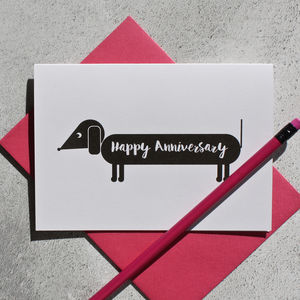 Dog Themed Anniversary Card - anniversary cards