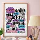 Someday Typographic Quote Print