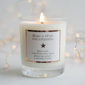 'Make A Wish For A Blessing' Candle - christening gifts