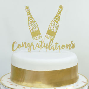Celebrate With Champagne! Congrats Cake Centrepiece