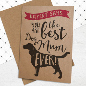 Best Dog Mum Ever Card - mother's day cards