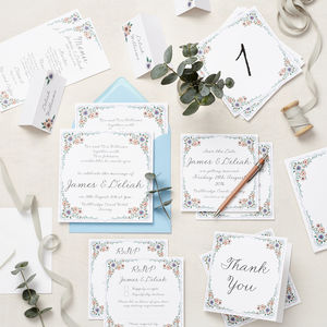 English Summer Garden Wedding Stationery Sample Pack