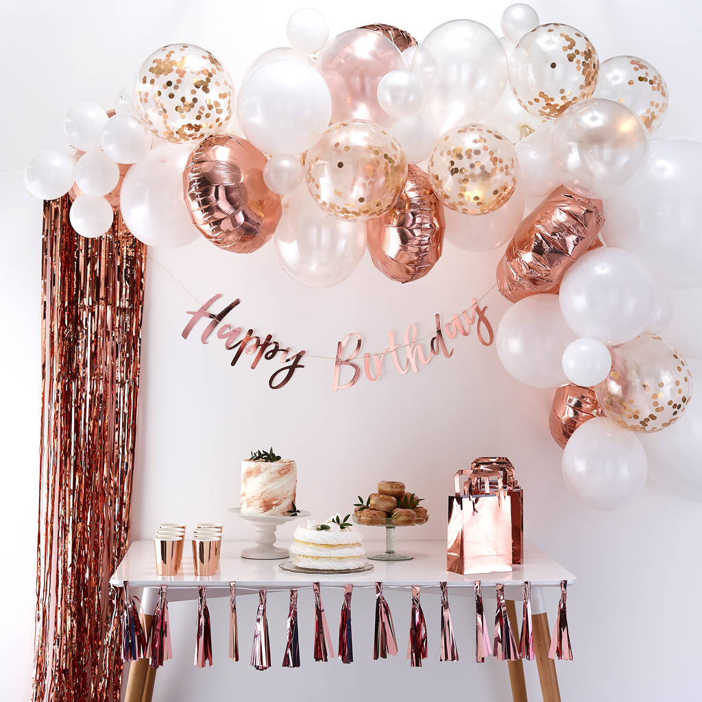 Rose Gold Balloon Arch Kit Party Decoration Pack
