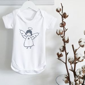 Christmas Angel Baby Grow - gifts for babies & children