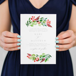 Evergreen Save The Dates And Invitations - save the date cards