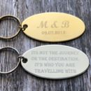 Large Oval Keyring
