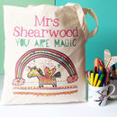 Personalised Nursery Teacher Bag - on a cotton bag - no love from