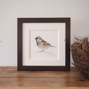 Limited Edition, Garden Bird Print, Sparrow