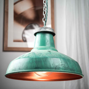 Verdigris Industrial Pendant Light