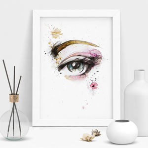 Mixed Media Fashion Eyes Print - art