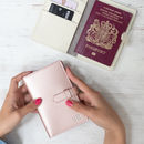 Leather Passport Cover In Many Colours