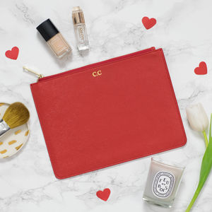 Personalised Monogram Real Leather Pouch - accessories