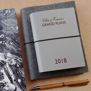 Personalised 'Grand Plans' Leather Diary - 2018 diaries
