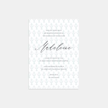 Holy Water Christening Invitations