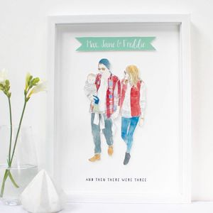Personalised Family Portrait Illustration Print