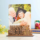 Personalised Graduation Photo Holder Wooden Frame Gift