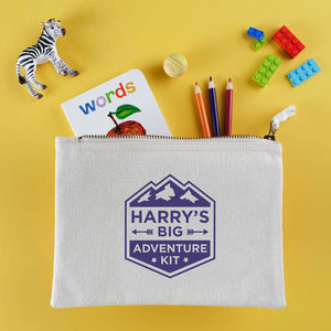 Personalised Big Adventure Travel Pouch - boys' bags & wallets