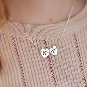 Personalised Heart Chain Necklace - winter sale