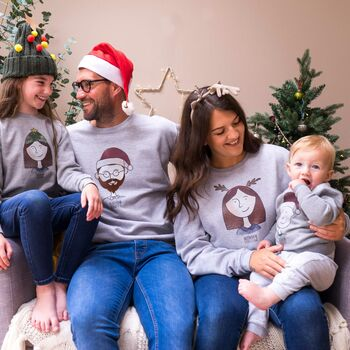 Personalised Family Portrait Christmas Jumpers