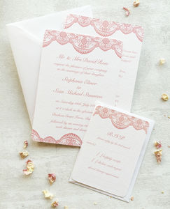 Lace Wedding Invitation Collection - wedding stationery