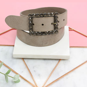 Personalised Leather Ladies Belt