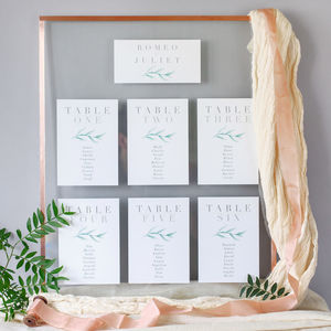 Verona Table Plan And Table Number Cards - table plans