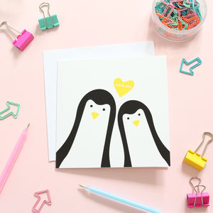 Penguin Me And You Card - sentimental cards
