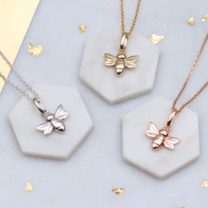 Petite Bee Necklace In Silver Or 18ct Gold Vermeil - necklaces & pendants