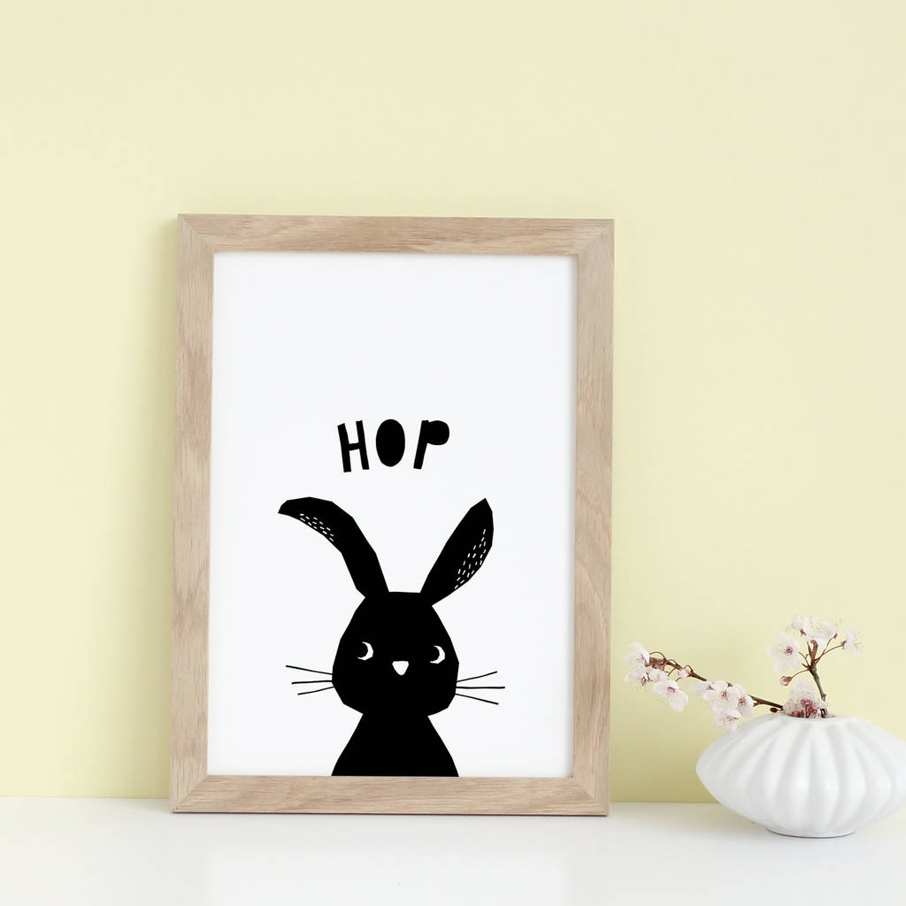 Rabbit Print, New Baby Boy Or Girl Gift