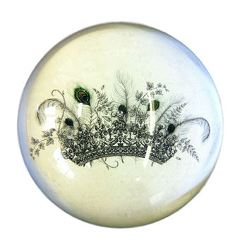 Pavo Crown Paperweight