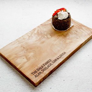 Personalised Natural Olive Wood Cheese Board