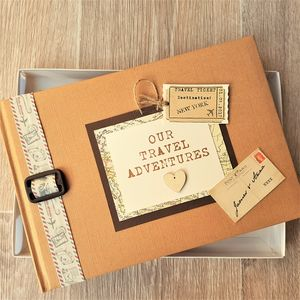 Personalised Kraft Travel Adventures Scrapbook